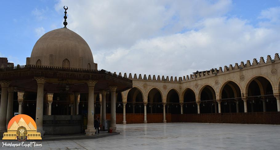 The mosque of Amr Ibn Al-Aas at Old Cairo