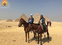 Tour to Dahshur and Saqqara and giza plateau camel ride